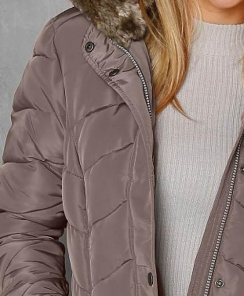 Béžovo-šedá prošívaná dámská bunda