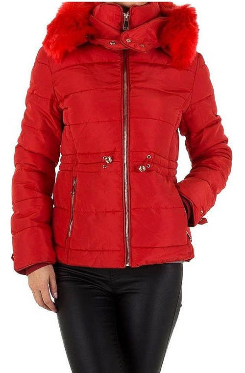 Červená dámská zimní bunda výprodej