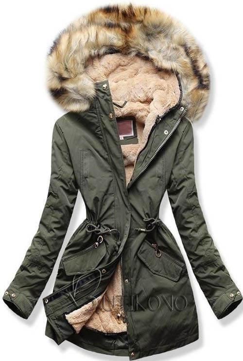 Dámský kabát s odnímatelnou zimní podšívkou