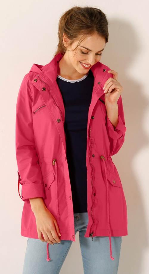 Lehčí růžová nepromoková bunda