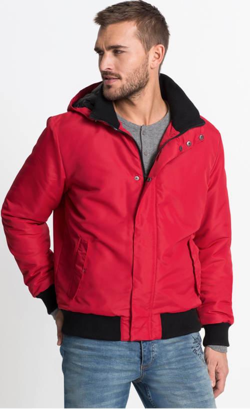 Lehká červená pánská zimní bunda