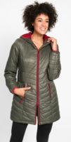 Lehká prošívaná prodloužená dámská zimní bunda