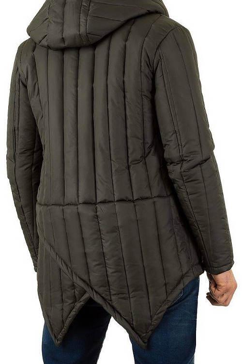 Pánská zimní bunda s prodlouženým zadním dílem