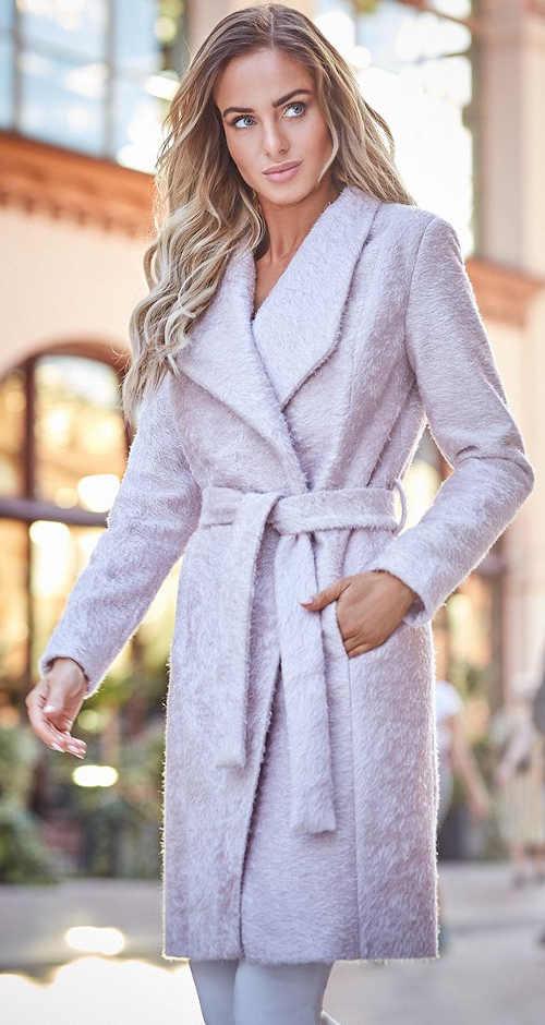 Dámský kabátek ke kolenům