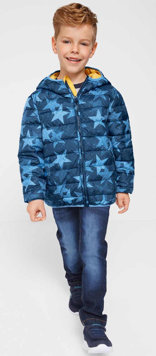 Hvězdičková vatovaná dětská bunda