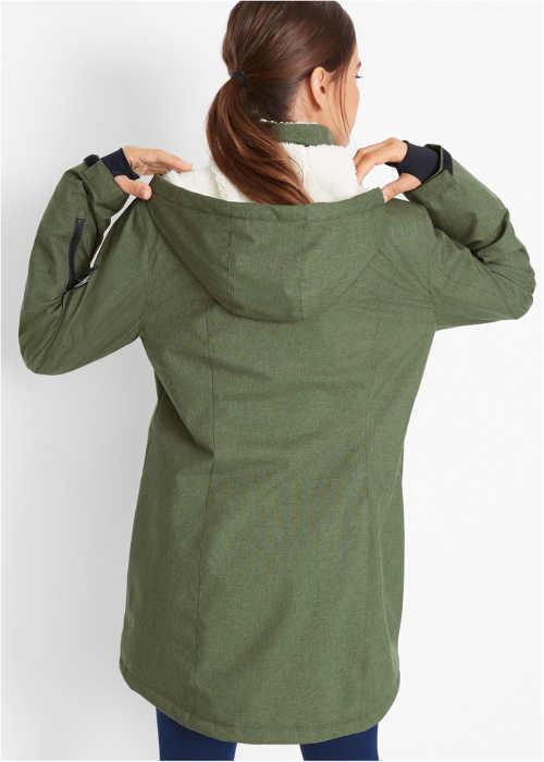Khaki outdoorová zimní bunda