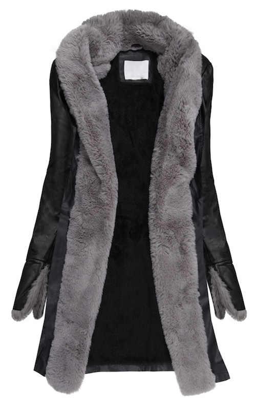 Kožený zimní kabát s hřejivým vnitřním kožíškem