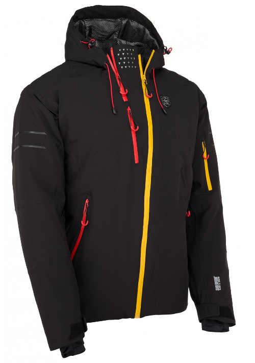 Lyžařská bunda s asymetrickým předním zipem