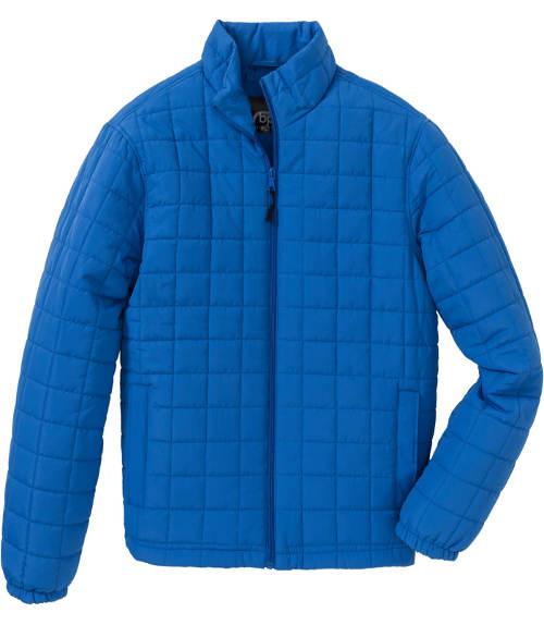 Azurově modrá pánská zimní bunda do pasu