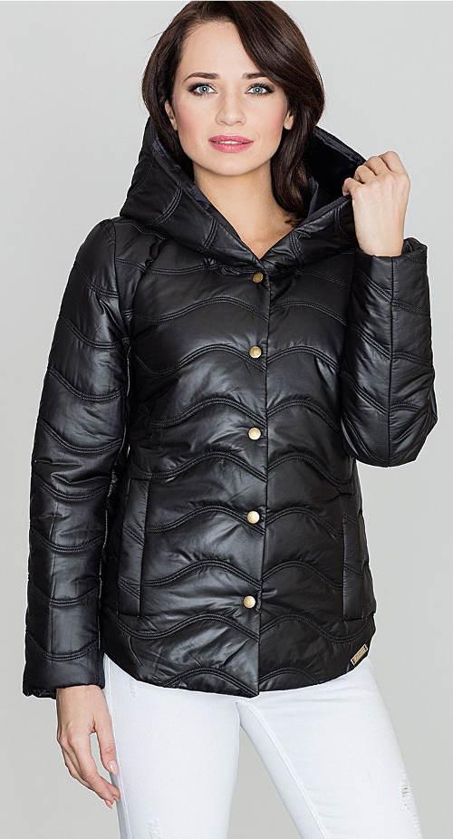 Černá dámská zimní bunda 50% výprodej