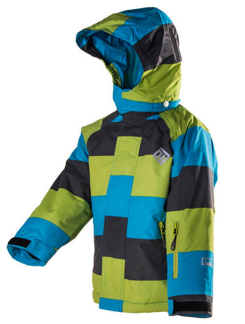 Chlapecká lyžařská bunda v moderní barevné kombinaci