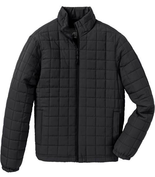 Čtvercově prošívaná černá pánská bunda