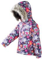 Dětská zimní bunda s květinovým motivem