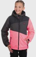 Dívčí růžovo-šedá zimní bunda SAM 73
