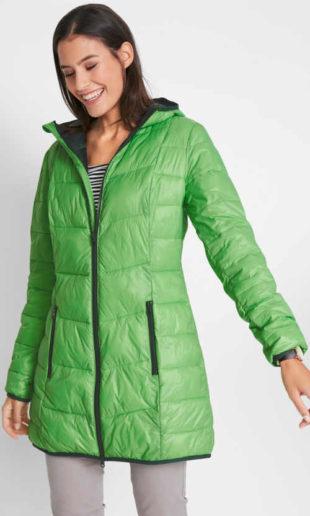 Dvoubarevný dámský prošívaný kabát