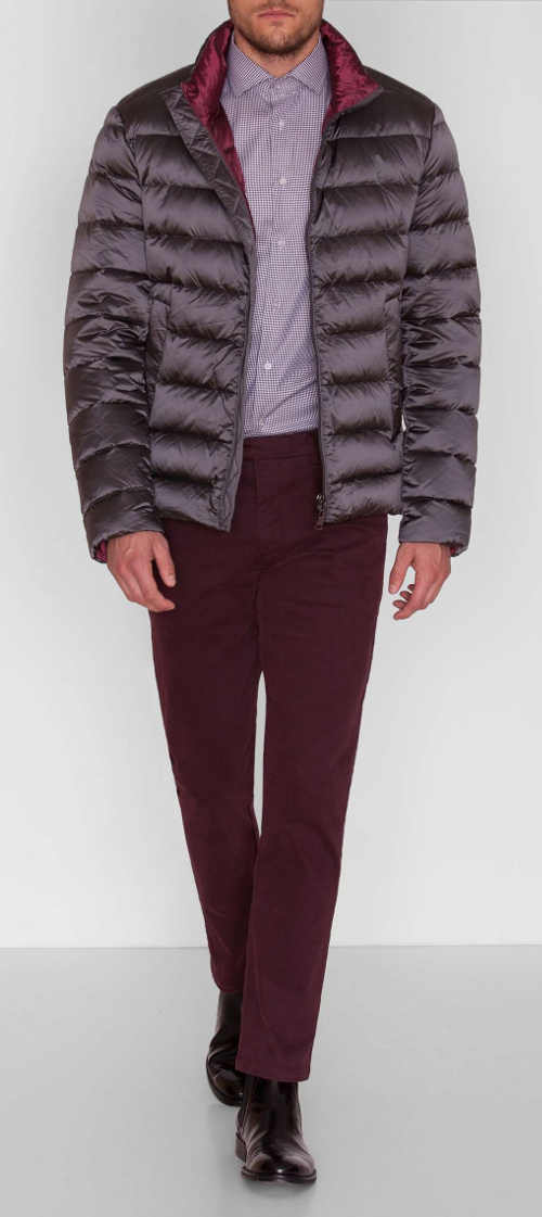 Elegantní pánská zimní bunda ke košili či saku