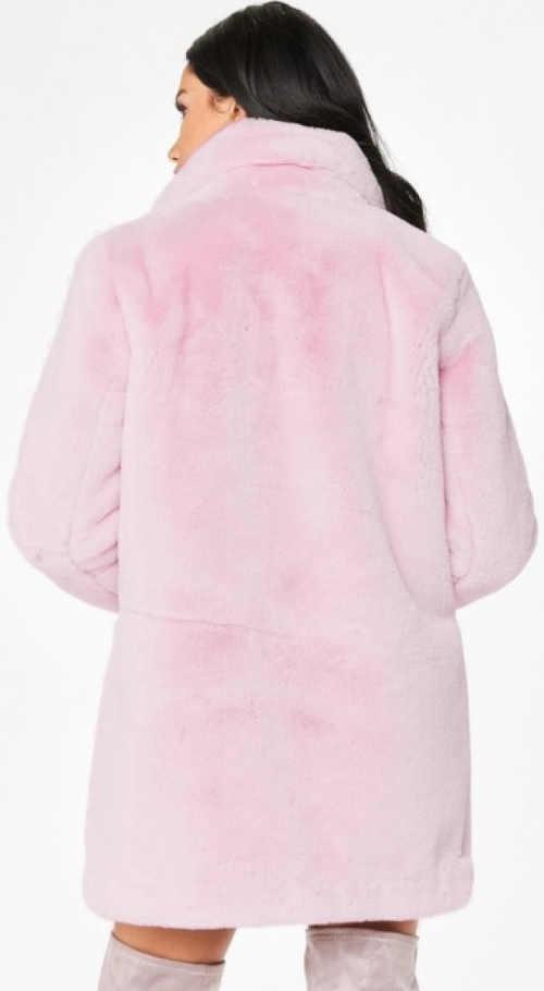 Hebounký růžový kabát styl Barbie