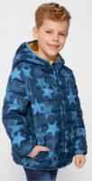 Klučičí modrá zimní bunda s hvězdičkami