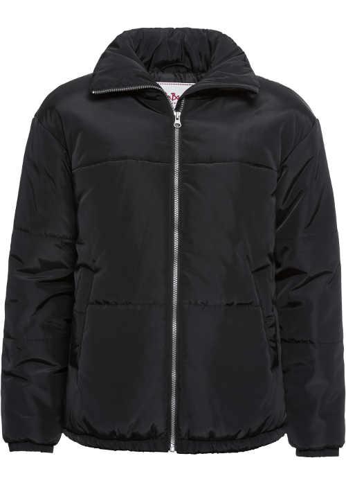 Lehčí černá dámská zimní bunda