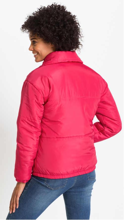 Lehká růžová dámská zimní bunda