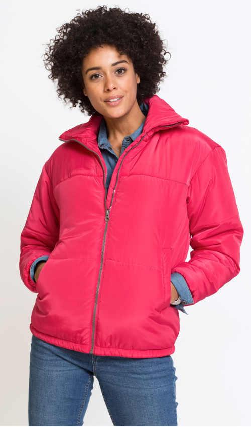 Levná vatovaná dámská zimní bunda Bonprix