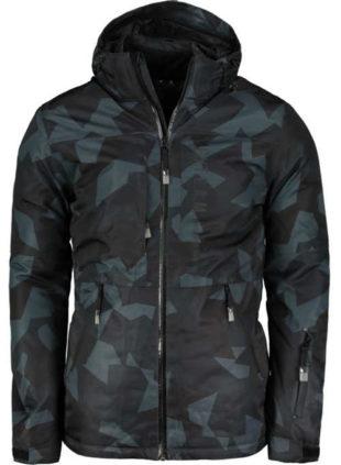 Pánská lyžařská bunda s maskáčovým vzorem