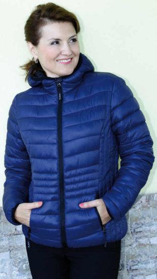 Prošívaná dámská zimní bunda nadměrných velikosti