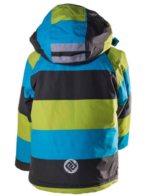Pruhovaná klučičí lyžařská bunda