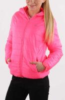 Růžová dámská bunda přiléhavého střihu