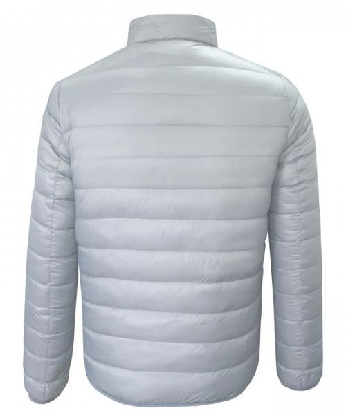 Stříbrno-šedá prošívaná pánská zimní bunda