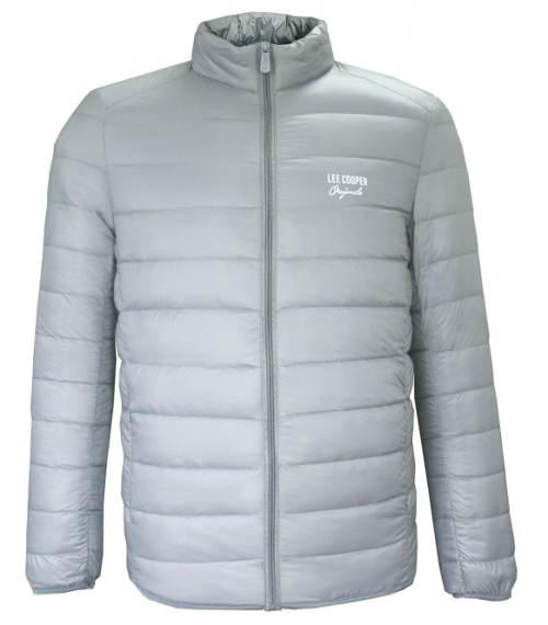 Světle šedá pánská zimní bunda Lee Cooper