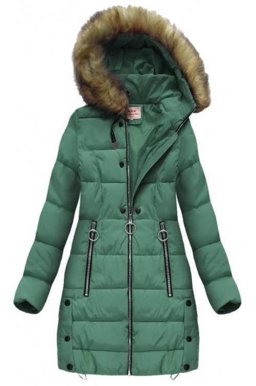 Velmi teplá delší zimní bunda s kapucí
