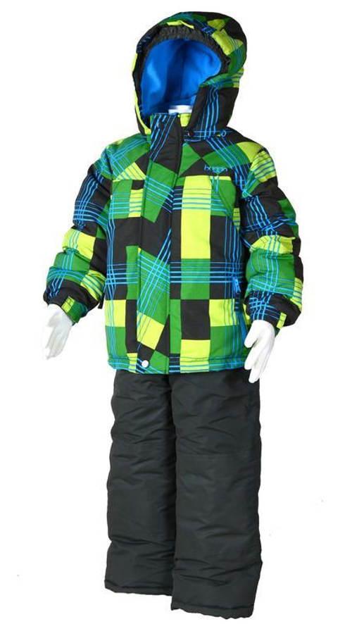 Zimní klučičí bunda s lyžařským pásem a kalhoty
