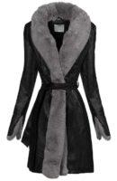 Zimní dámský kabát z umělé kůže
