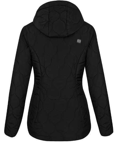 Černá dámská zimní bunda Loap s kapucí