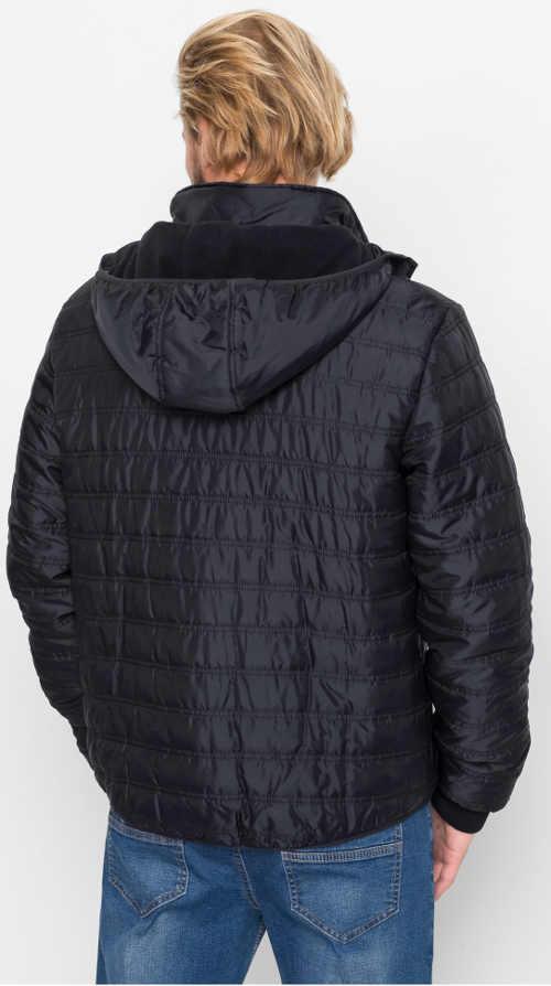 Černá pánská zimní prošívaná bunda Bonprix