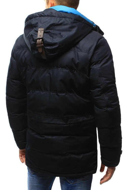 Delší pánská černá zimní bunda