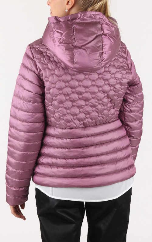 Fialková lesklá zimní bunda
