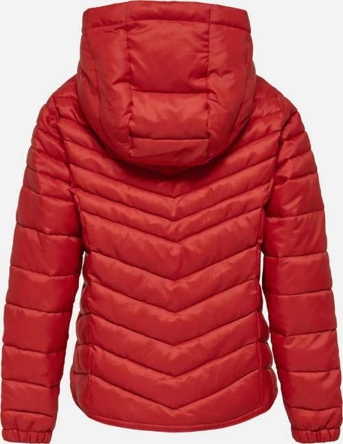 Holčičí prošívaná zimní bunda s kapucí
