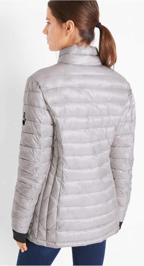 Šedá funkční sportovní zimní bunda