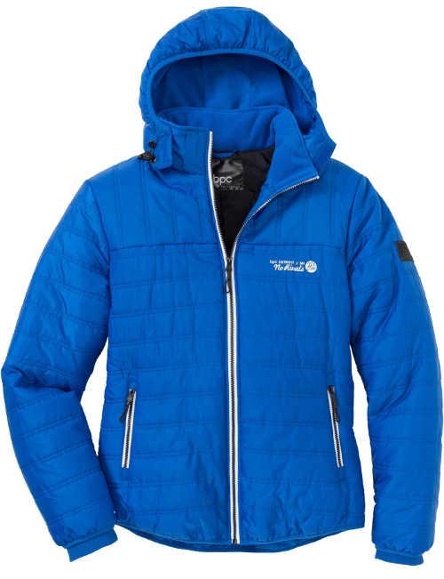 Světle modrá zimní bunda pro manžela