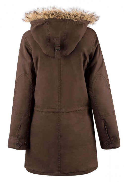 Zimní dámský kabát s liškou