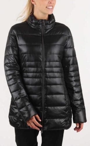 Černá delší prošívaná dámská zimní bunda GAS Sallybel