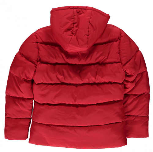 Červená dětská zimní bunda s velkou slevou