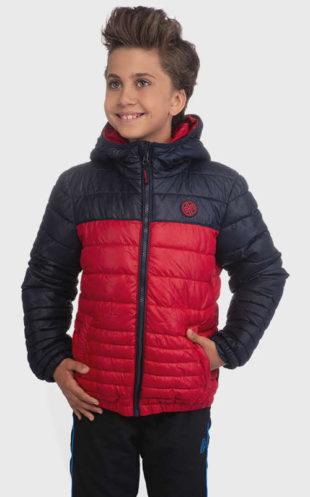Červenočerná klučičí bunda na zimu