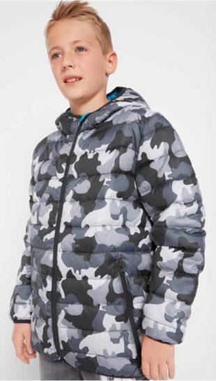 Chlapecká maskáčová zimní bunda