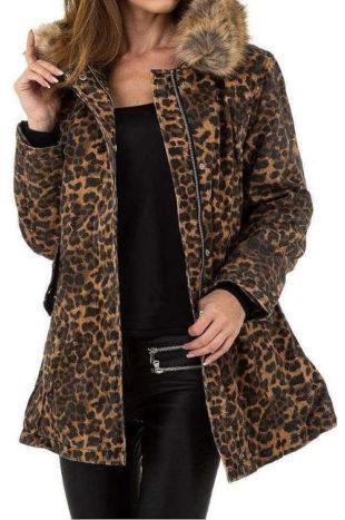 Dámská stylová leopardí bunda Voyelles
