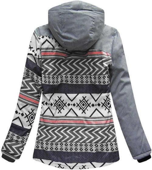 Dámská zimní bunda s norským vzorem