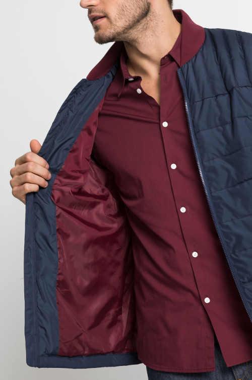 Elegantní prošívaná pánská zimní bunda do pasu