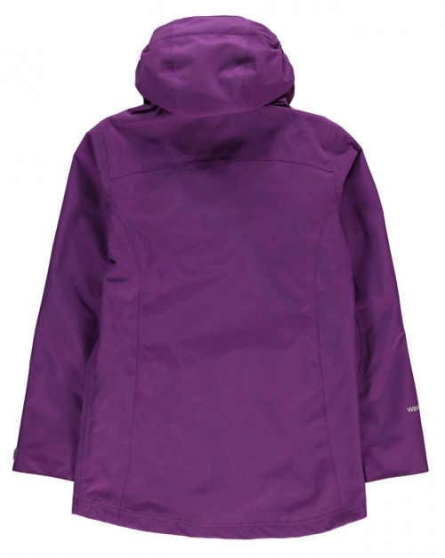 Fialová dívčí zimní bunda s kapucí
